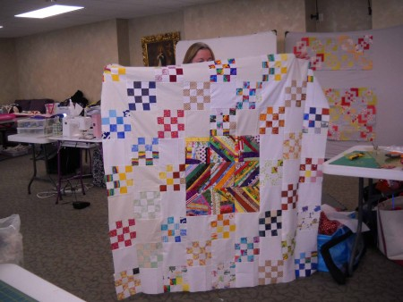 Barbara M. shows her scrap quilt