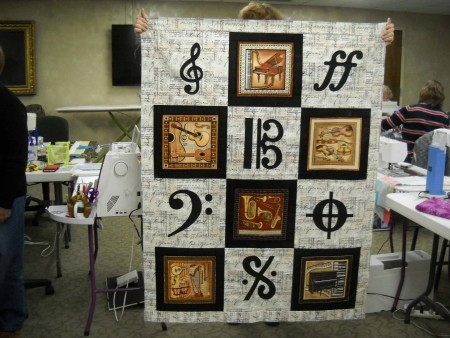 Connie shares her musical quilt