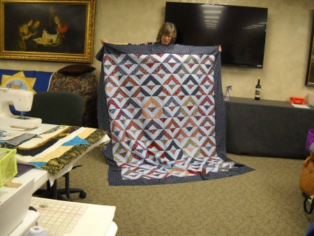 JoAnne shares her Quilt of Honor